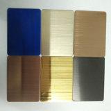 Corrimano dell'acciaio inossidabile di colore della scala mobile di Inox 304 per il lavoro del metallo