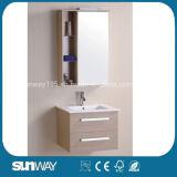 Vanità calda della stanza da bagno della melammina del MDF di vendita con lo specchio (SW-ML1203A)