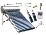 Calentador de agua solar de alta presión del acero inoxidable
