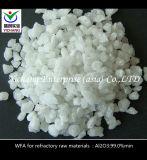 Arenas fundidas blancas del óxido de aluminio de los materiales refractarios