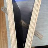 O preto dos materiais de construção ou Brown ou a película vermelha enfrentaram a madeira compensada