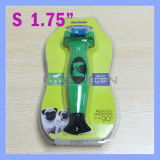 1.75 Inch Green Pet Comb Long Short Hair Removal Deshedding Tool für Small Dogs bis zu 20 Pounds 9kg