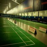 중국은 배드민턴 경기장을%s 마루청을 까는 싼 실내 PVC 스포츠를 제조했다