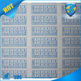 Brittle Film Anti Peel Writable Eggshell Vinyl Destructible Sticker