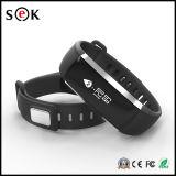 Wristband elegante del perseguidor de la aptitud del podómetro del monitor del ritmo cardíaco del oxímetro del oxígeno de la sangre de la presión arterial de Bluetooth Smartband del reloj de la pulsera de la venda del M2 para el androide Iph del IOS