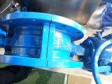 PTFE lleno que cubre la válvula de mariposa ensanchada doble de la sección de U