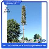 単一の管の電気通信のための自由な立場のヤシの木タワー