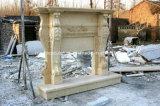 Camino di marmo antico beige per la decorazione dell'interno Sy-Mf312