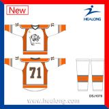 Hockey sur glace sublimé par teinture de sublimation d'ODM de Healong Jersey