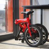 pulgada eléctrica ocultada 36V Ebike plegable inteligente de la bici 16 de la batería