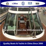 Top pasajeros del crucero de la nave 2000 barco del catamarán