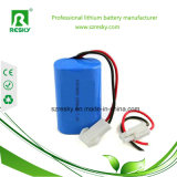 11.1V 4400mAh Li-Ionbatterie-Satz mit blauem Gefäß für LED und Notleuchte