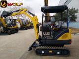 늑대 Professional Manufacturer 1.8t Mini Crawler Excavator