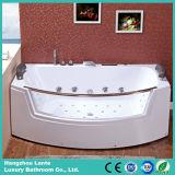 Banheira de canto interna Eco-Friendly da massagem com vidro desobstruído (TLP-664)