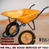 Wb6400多目的頑丈な一輪車、安い価格のフランスモデルBrouette