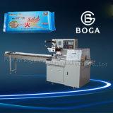Equipamento de empacotamento automático da máquina de envolvimento do fluxo do saco do reforço do movimento da caixa