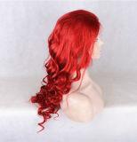 Peluca llena del pelo de la Virgen del pelo humano de la peluca el 100% del cordón/peluca delantera del cordón