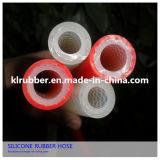 Tubo di gomma variopinto del silicone del commestibile della treccia della fibra