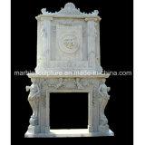 Cornija de lareira de mármore dobro da bordadura da chaminé (SY-MF031)