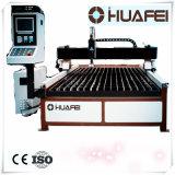Plasma do CNC de Jinan Huafei Qgiii e máquina de estaca da flama com plataforma
