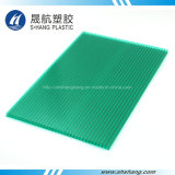 Folha de telhado de policarbonato de plástico revestido com UV de 100% Material novo