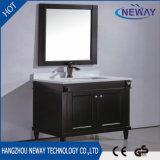 Governo di legno di vanità della stanza da bagno del singolo nero di formato di alta qualità