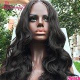 Cabelo 100% humano do Virgin venda por atacado cheia da peruca do laço da onda do corpo de 26 polegadas