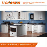 Gabinete de cozinha branco da madeira contínua da porta do abanador do mercado de América