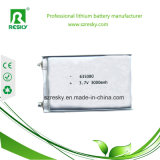 Batterie prismatique 635080, 3.7V, de Li-Polymère cellule 3000mAh