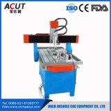 Ranurador del CNC del eje del CNC 4 que hace publicidad de la máquina con el tanque rotatorio y de agua