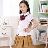 Falda modificada para requisitos particulares uniformes escolares de la camisa de la muchacha de la alta calidad del OEM