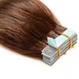 머리 Remy 사람의 모발 PU 피부 씨실 20pieces 고정되는 30g 40g 50g에 있는 테이프 매끄럽고 연약한 똑바른 피부 안으로 씨실 인간적인 러시아 머리 테이프