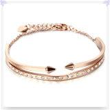 水晶宝石類の方法宝石類のステンレス鋼の腕輪(BR551)