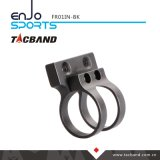 TacbandのKeymodのためのオフセットの戦術的な懐中電燈の台紙LEDの懐中電燈1インチのリングの黒