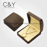 Caixa de jóia de couro luxuosa da alta qualidade a mais nova