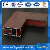 Perfiles de aluminio del grano de madera para la rotura termal Windows