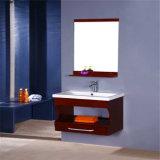 Vanité fixée au mur en bois de salle de bains moderne