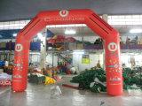 膨脹可能な印刷された空気アーチ、Archdoorを広告する屋外の赤