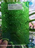 세륨, ISO (3-8mm)를 가진 녹색 식물상 장식무늬가 든 유리 제품