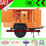 Máquina móvil del purificador de petróleo del transformador, máquina de reciclaje/de filtración del petróleo inútil