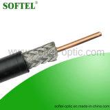 El trenzado escudo y RG11 Cable coaxial con el mensajero opcional