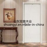 Puerta interior de madera sólida de la buena calidad de la fabricación de China para el apartamento del hotel