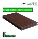 Decking extérieur solide en plastique en bois recouvert du composé WPC