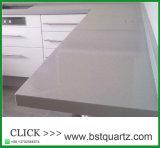 Piedra Polished gris clara del cuarzo para las tapas