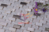 CrystalおよびStainless Steel Mosaic Tiles (CFP071)のPeralの自然なMother