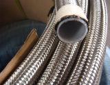 SAE 100 R14 SS304 SS316 acero inoxidable trenzado de la manguera de teflón