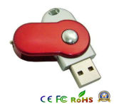 Disco libre del USB del mecanismo impulsor 2.0 del flash del USB del eslabón giratorio de la insignia