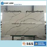 Laje de mármore artificial da pedra de quartzo da cor
