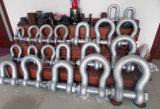 "1-3/4 "" 25t G2130の大きい造られた鋼鉄索具の弓アンカー旋回装置の手錠"