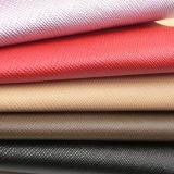 Горячая продавая кожа PU имитационная с текстурой Крест-Стежком для тканевого материала мешков